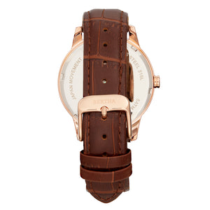 Bertha Prudence Leather-Band Watch - Brown - BTHBS1404