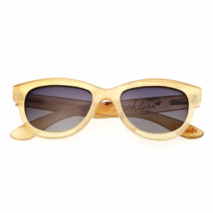 Bertha Carly Buffalo-Horn Polarized Sunglasses - Honey/Black - BRSBR009C