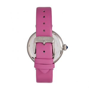 Bertha Rosie Leather-Band Watch - Silver/Pink - BTHBR8802