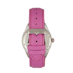Bertha Ericka MOP Leather-Band Watch - Light Pink - BTHBR7204