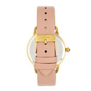 Bertha Grace MOP Leather-Band Watch - Apricot - BTHBR9004