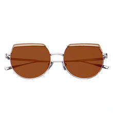 Load image into Gallery viewer, Bertha Callie Polarized Sunglasses - Silver/Brown - BRSBR032BN