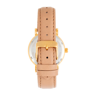 Bertha Lydia Leather-Band Watch - Beige - BTHBR9502