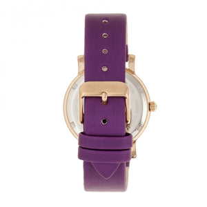 Bertha Vanessa Leather Band Watch - Purple - BTHBR8706