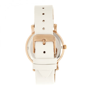 Bertha Vanessa Leather Band Watch - White  - BTHBR8705