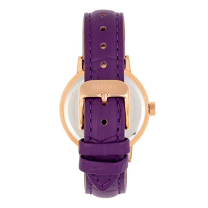 Bertha Cecelia Leather-Band Watch - Purple  - BTHBR7506