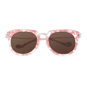 Bertha Aaliyah Polarized Sunglasses - Pink Tortoise/Brown - BRSBR023BN