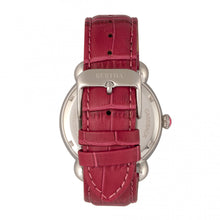 Load image into Gallery viewer, Bertha Ashley MOP Leather-Band Ladies Watch - Silver/Red - BTHBR3001