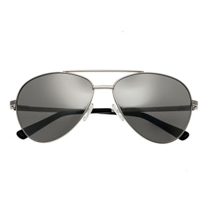 Bertha Bianca Polarized Sunglasses - Silver/Black - BRSBR020S