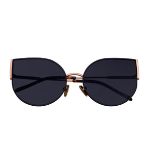 Bertha Logan Polarized Sunglasses - Rose Gold/Black - BRSBR036RG