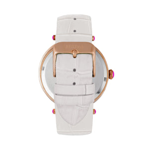 Bertha Camilla Mother-Of-Pearl Leather-Band Watch - White - BTHBR6207