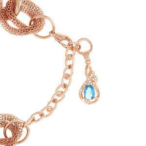 Bertha Sarah Chain-Link Watch w/Hanging Charm - Rose Gold - BTHBR8905