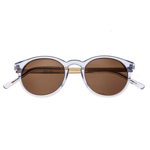 Bertha Hayley Polarized Sunglasses - Blue/Brown - BRSBR014B