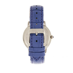 Bertha Madeline MOP Leather-Band Watch - Purple - BTHBR7105