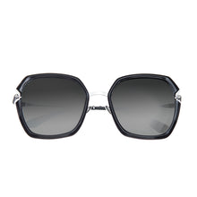 Load image into Gallery viewer, Bertha Teagan Polarized Sunglasses - Black/Silver - BRSBR033SL