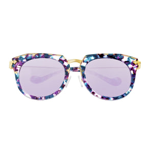 Bertha Aaliyah Polarized Sunglasses - Teal-Purple Tortoise/Purple - BRSBR023PU