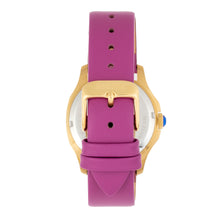 Load image into Gallery viewer, Bertha Donna Mother-of-Pearl Leather-Band Watch - Purple - BTHBR9804