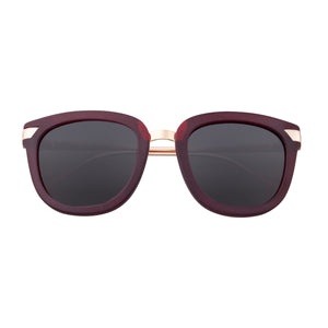 Bertha Arianna Polarized Sunglasses - Burgundy/Black - BRSBR043GN
