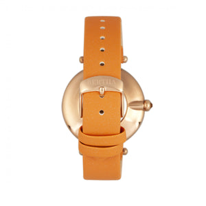 Bertha Trisha Leather-Band Watch w/Swarovski Crystals - Orange - BTHBR8004