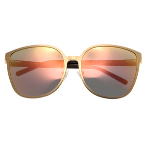 Bertha Ophelia Polarized Sunglasses - Rose Gold/Rose Gold - BRSBR019RG