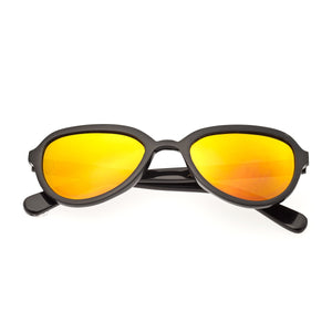 Bertha Alexa Buffalo-Horn Polarized Sunglasses - Black/Gold - BRSBR007B