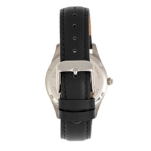 Load image into Gallery viewer, Bertha Dixie Floral Engraved Leather-Band Watch - Black - BTHBR9901