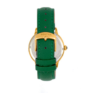 Bertha Dolly Leather-Band Watch - Green  - BTHBS1004