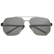 Load image into Gallery viewer, Bertha Brynn Polarized Sunglasses - Silver/Silver - BRSBR035SL
