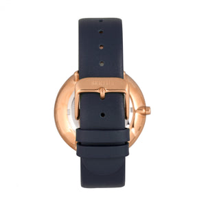 Bertha Ingrid Leather-Band Watch - Navy - BTHBR9106