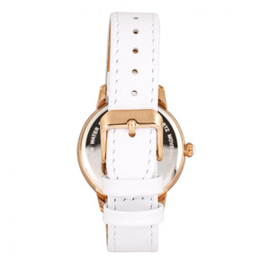 Bertha Adaline Mother-Of-Pearl Leather-Band Watch - White - BTHBR8205