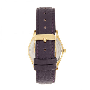 Bertha Sadie Mother-of-Pearl Leather-Band Watch - Purple - BTHBR8403