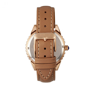 Bertha Clara Leather-Band Watch - Khaki - BTHBR8105