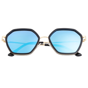 Bertha Ariana Polarized Sunglasses - Black/Blue - BRSBR038BL