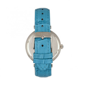 Bertha Mia Mother-Of-Pearl Leather-Band Watch - Blue  - BTHBR7401