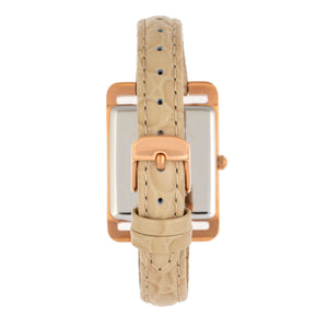Bertha Marisol Swiss MOP Leather-Band Watch - Cream - BTHBR6904