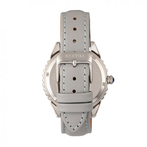 Bertha Clara Leather-Band Watch - Grey - BTHBR8102