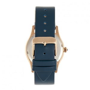 Bertha Annabelle Leather-Band Watch - Navy - BTHBR9206