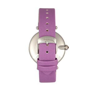 Bertha Trisha Leather-Band Watch w/Swarovski Crystals - Lilac - BTHBR8002