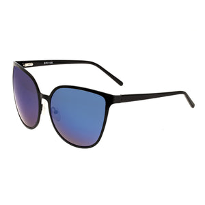 Bertha Ophelia Polarized Sunglasses - Black/Purple-Blue - BRSBR019B