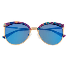 Load image into Gallery viewer, Bertha Hazel Polarized Sunglasses - Rose Gold/Blue - BRSBR024BL
