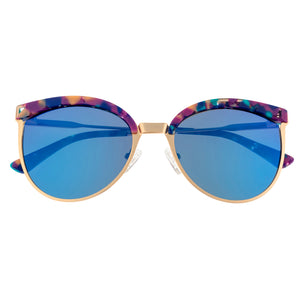 Bertha Hazel Polarized Sunglasses - Rose Gold/Blue - BRSBR024BL
