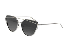 Load image into Gallery viewer, Bertha Aria Polarized Sunglasses - Silver/Black - BRSBR025PKX