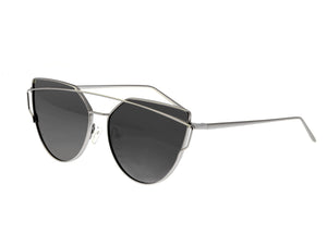 Bertha Aria Polarized Sunglasses - Silver/Black - BRSBR025PKX
