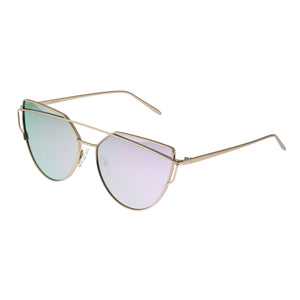 Bertha Aria Polarized Sunglasses - Silver/Purple - BRSBR025PU