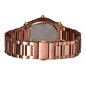 Bertha Fiona MOP Ladies Bracelet Watch w/ Date - Rose Gold/White - BTHBR2904