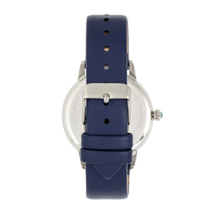Bertha Grace MOP Leather-Band Watch - Navy - BTHBR9001