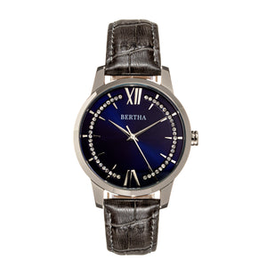 Bertha Prudence Leather-Band Watch