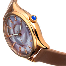 Load image into Gallery viewer, Bertha Georgiana Mother-Of-Pearl Leather-Band Watch - Rose Gold/Beige - BTHBS1106