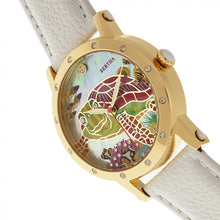 Load image into Gallery viewer, Bertha Chelsea MOP Leather-Band Ladies Watch - Gold/White - BTHBR4903