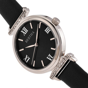 Bertha Jasmine Leather-Band Watch - Black - BTHBR9601